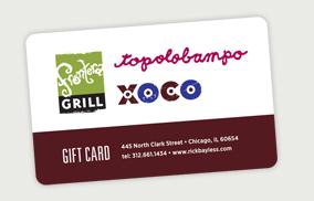 Frontera Restaurant Gift Cards