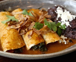 Goat Cheese and Greens Enchiladas
