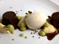 "Warm Chocolate, Frozen Coconut—the dish Vettel called ""astonishing."""