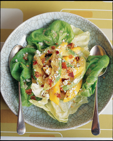 4c951fda67 Avocado-Mango Salad with Fresh (or Blue) Cheese, Bacon and Toasted Pumpkin  Seeds