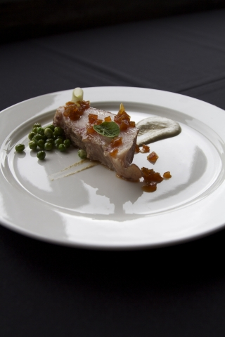 Pork Jowl with Green Pipian by Pablo Salas