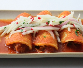 Smoked Pork Enchiladas