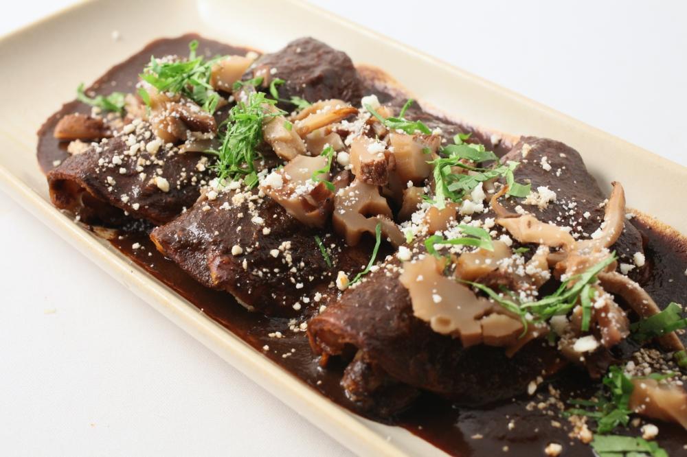 Woodland Mushroom Enchiladas