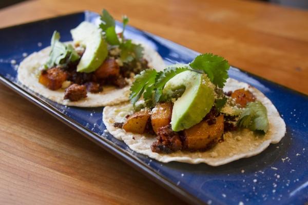 Rick Bayless | Chorizo-Potato Tacos